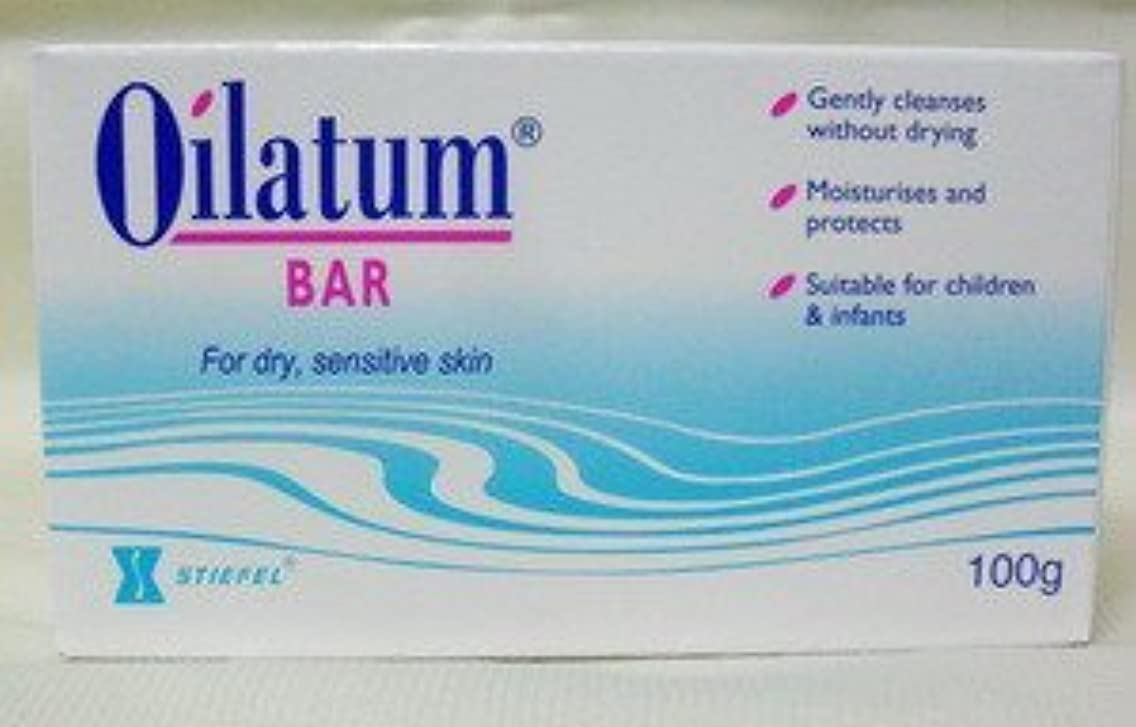 鮮やかなパイントいくつかのPack of 12 Oilatum Bar Soap 100g. Free Shopping by Oilatum