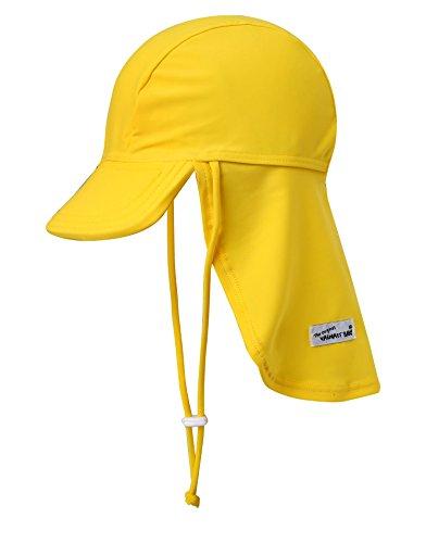Vaenait Babyベビー 子供水着日焼け予防UVカットフラップキャップ帽子 Yellow S