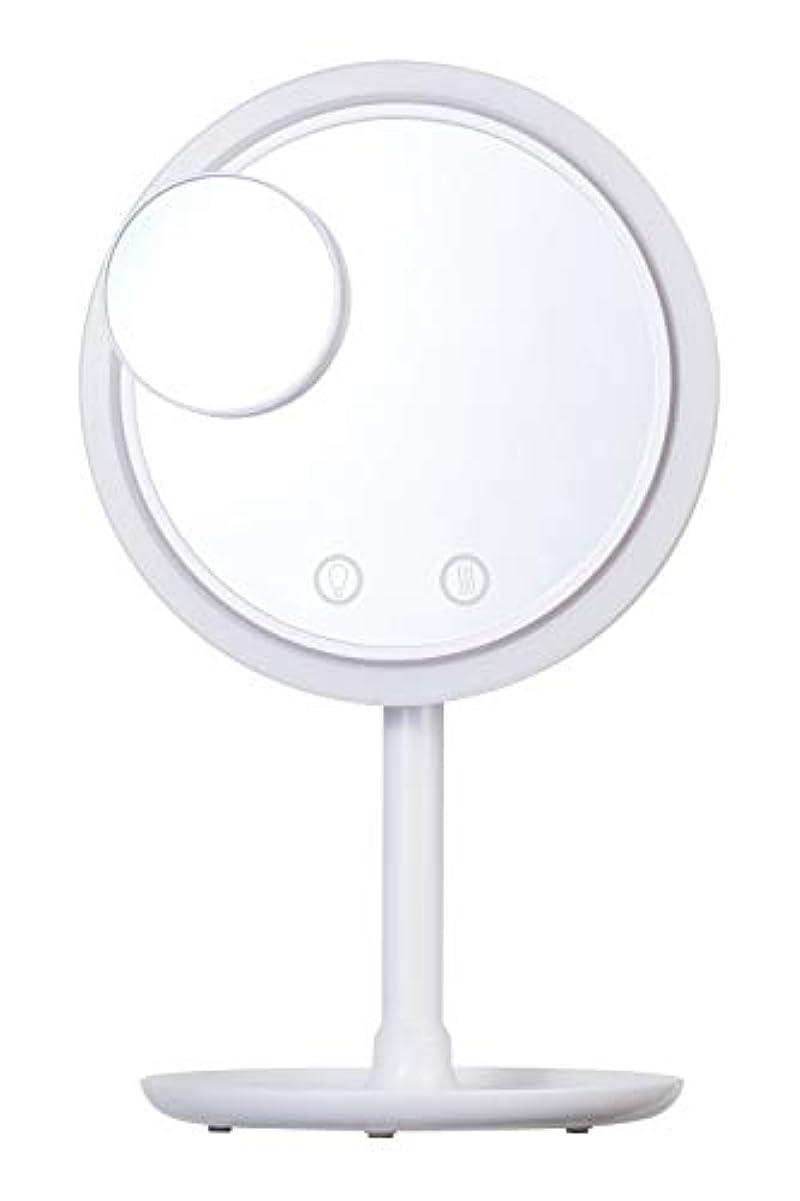 ラジエーター一般化する舌なSIMPLE MIND Airy Make Fan Mirror エアリー メイク ファン ミラー 化粧鏡 SMHB-012 (ホワイト)