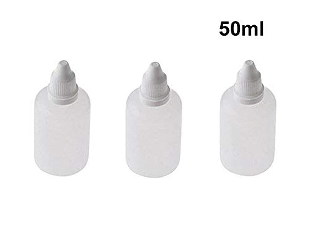 唯一忌まわしい宴会10 Pieces Empty Refillable Plastic Squeezable Dropper Bottles Portable Eye Liquid Vial with Screw Caps and Plugs...