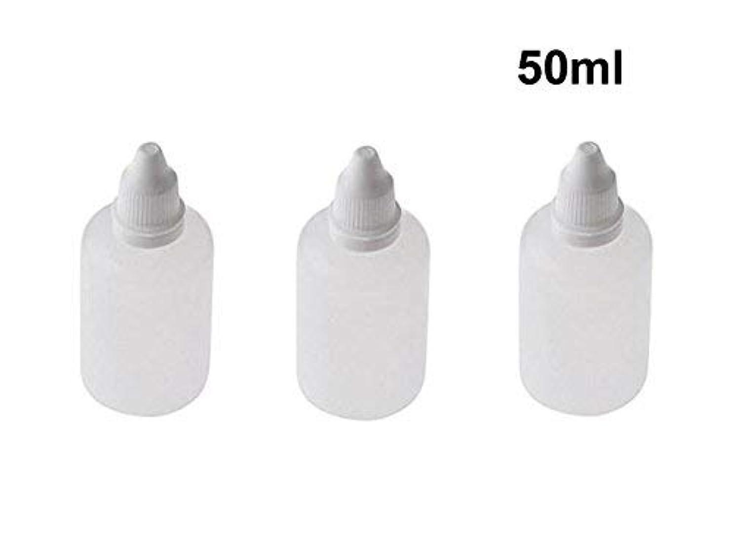 鷹ほとんどないデクリメント10 Pieces Empty Refillable Plastic Squeezable Dropper Bottles Portable Eye Liquid Vial with Screw Caps and Plugs Cosmetic Packaging Containers Essential Oil Container size 50ml [並行輸入品]