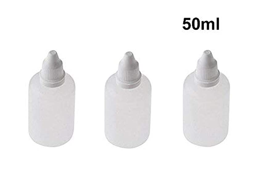 合金育成ジャム10 Pieces Empty Refillable Plastic Squeezable Dropper Bottles Portable Eye Liquid Vial with Screw Caps and Plugs...