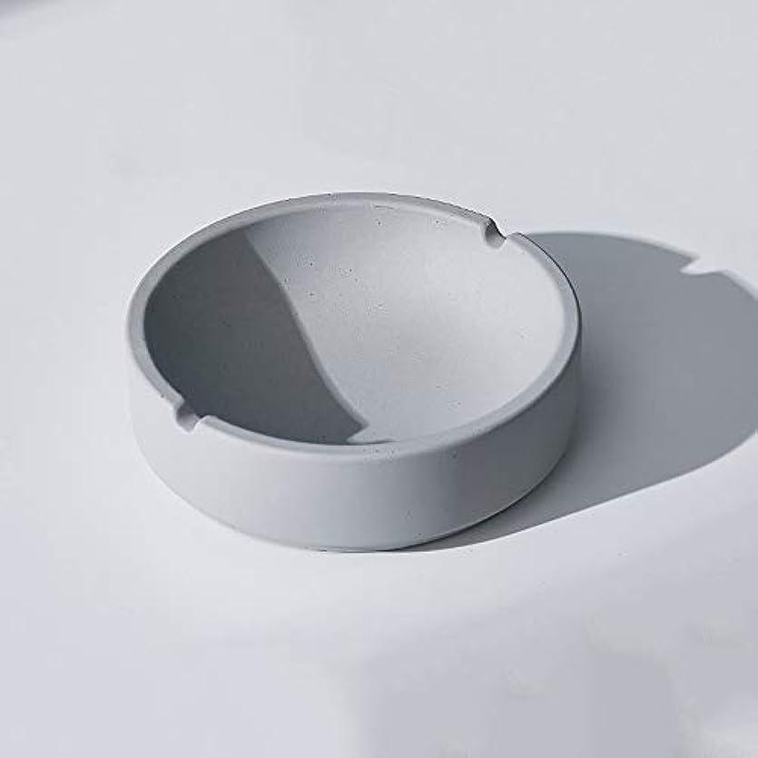 同化するシェルターバイナリ家庭用産業風コンクリート灰皿、パーソナライズ屋外灰皿、多人数使用シーンリビングルームオフィスレストラン灰皿装飾 (色 : B, Size : L)
