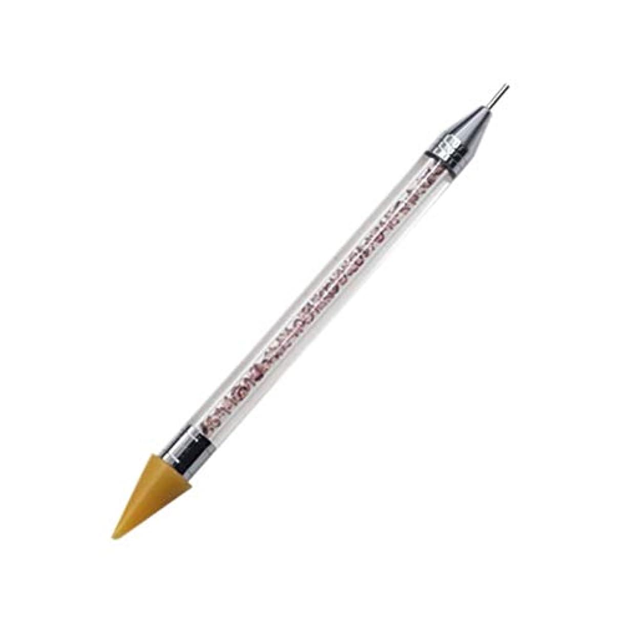 自分の方法論フローネイルペン DIY デュアルエンド 絵画ツール ペン ネイル筆 ネイルアートペン ネイルアートブラシ マニキュアツールキット ネイルツール ネイル用品 ラインストーンピッカー点在ペン マニキュアネイルアート DIY 装飾ツール