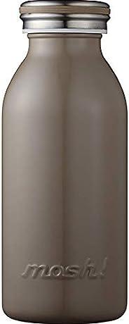 水筒 真空断熱 スクリュー式 マグ ボトル 0.35L ブラウン mosh! (モッシュ! )