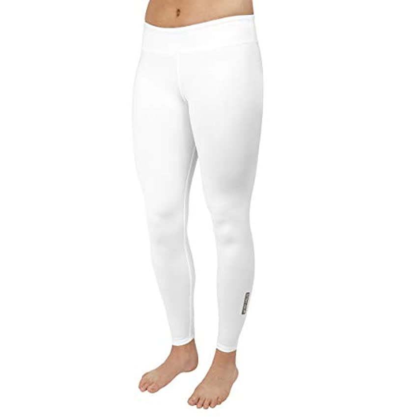 散らす助けて避難するHot Chillys Women's Mec Ankle Tight White, Large