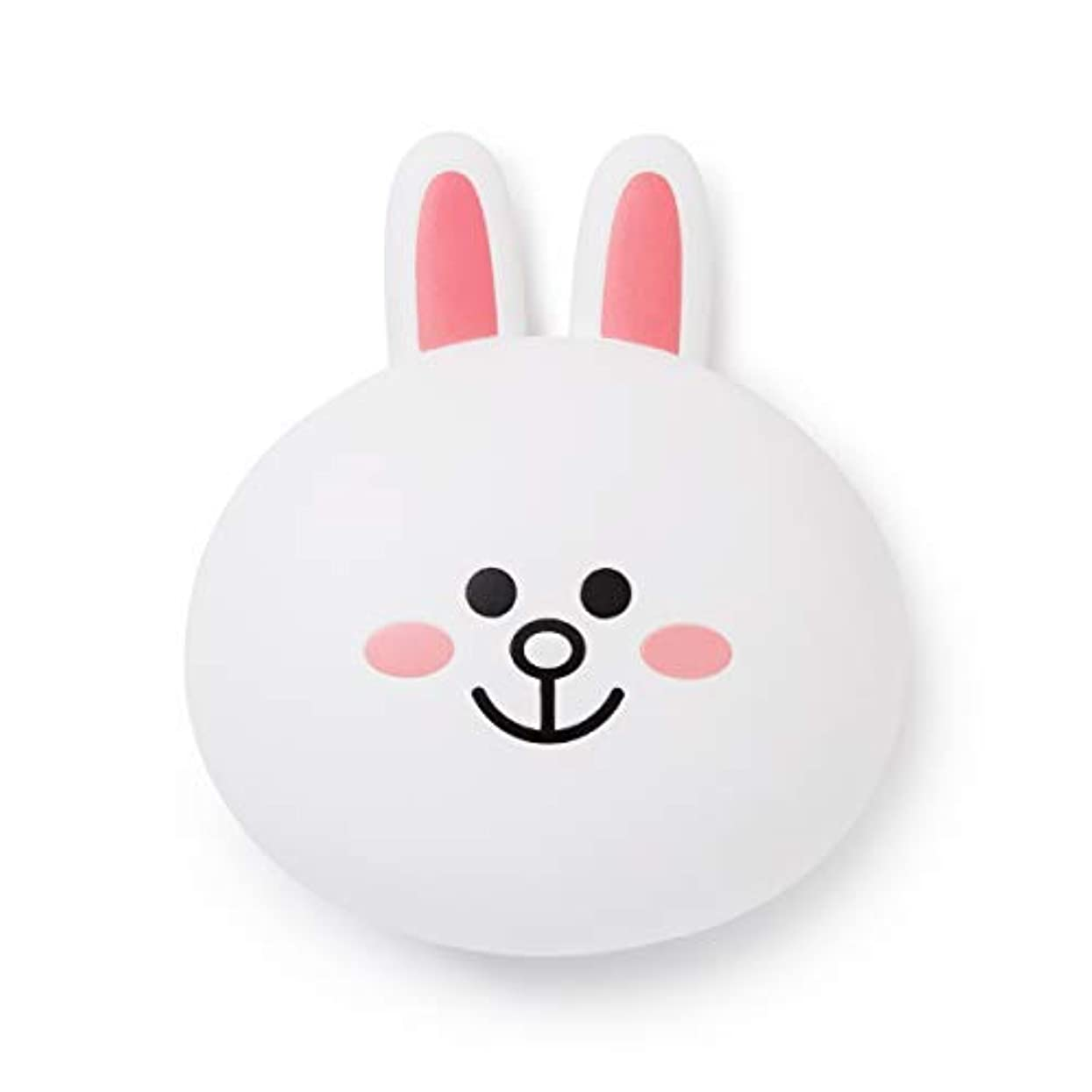 ソーセージしおれた透けるLINE FRIENDS Hair Brush Accessories - CONY Character Travel Comb Accessory with Mirror for Women, White [並行輸入品]
