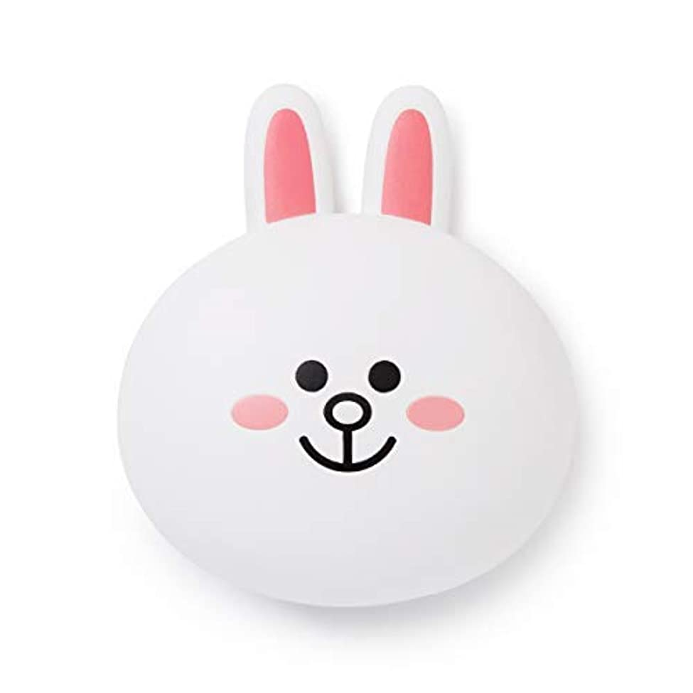 LINE FRIENDS Hair Brush Accessories - CONY Character Travel Comb Accessory with Mirror for Women, White [並行輸入品]