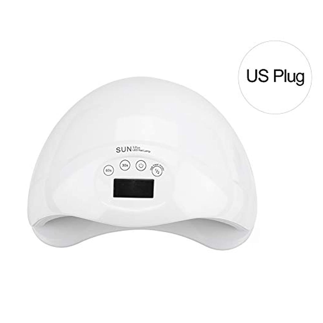 急ぐロードされたホームレスネイルランプ、スマートセンサーネイルアートツールで硬化するネイルジェルポリッシュ用の2種類のUVLEDネイルドライヤー(私たち)