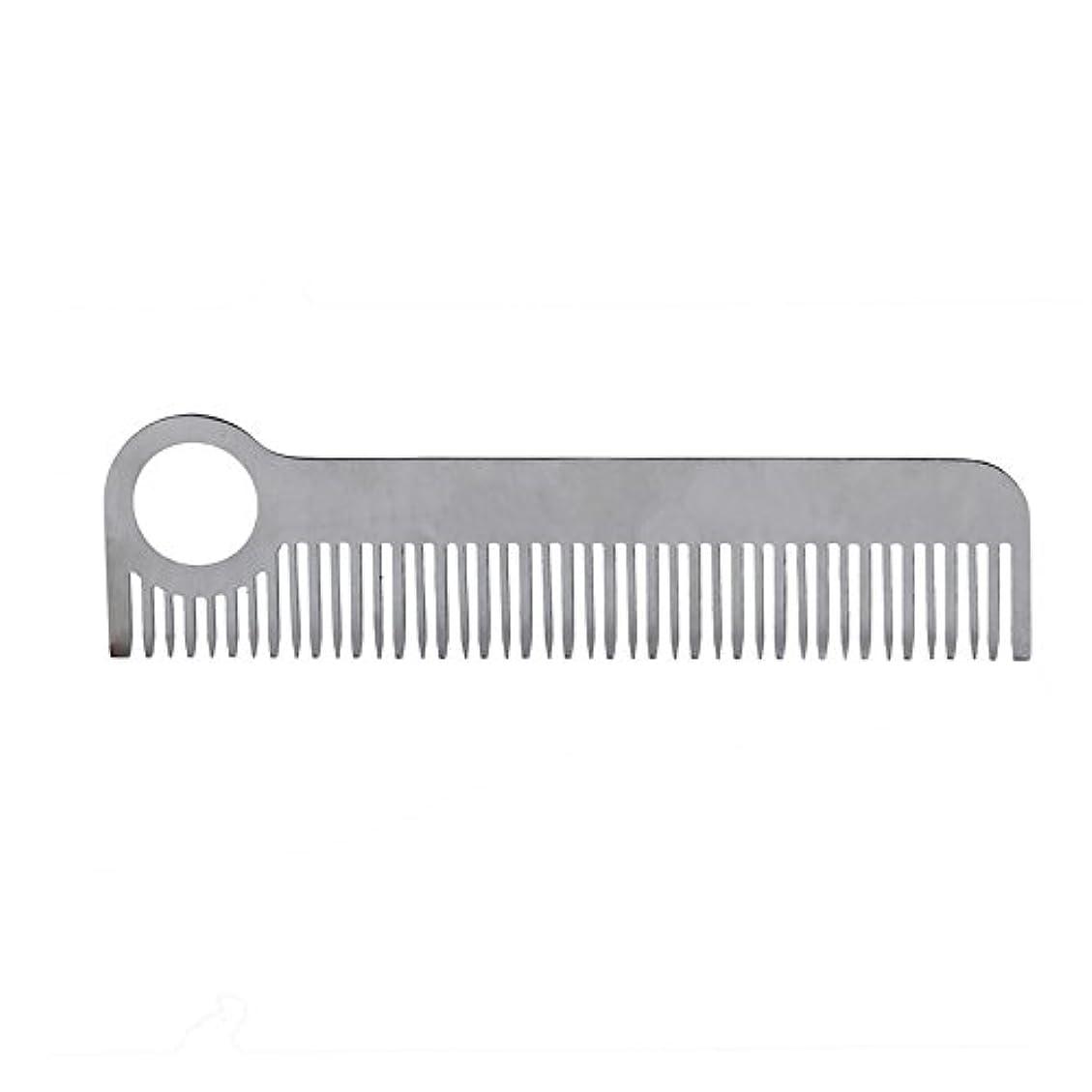 メンダシティもう一度猛烈なEDCポケット シルバーステンレス鋼 アウトドア髪の歯の櫛 サバイバルツール