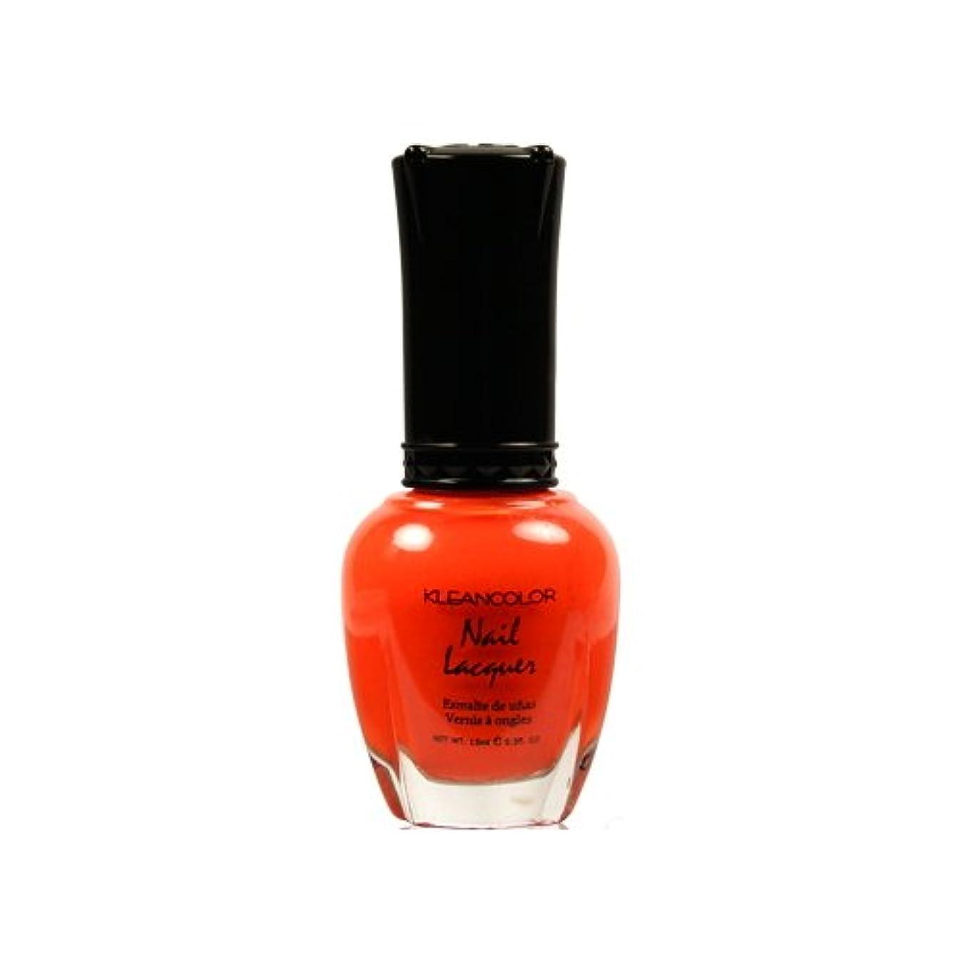 初心者永遠のバウンド(6 Pack) KLEANCOLOR Nail Lacquer 4 - Tangerine Burst (並行輸入品)