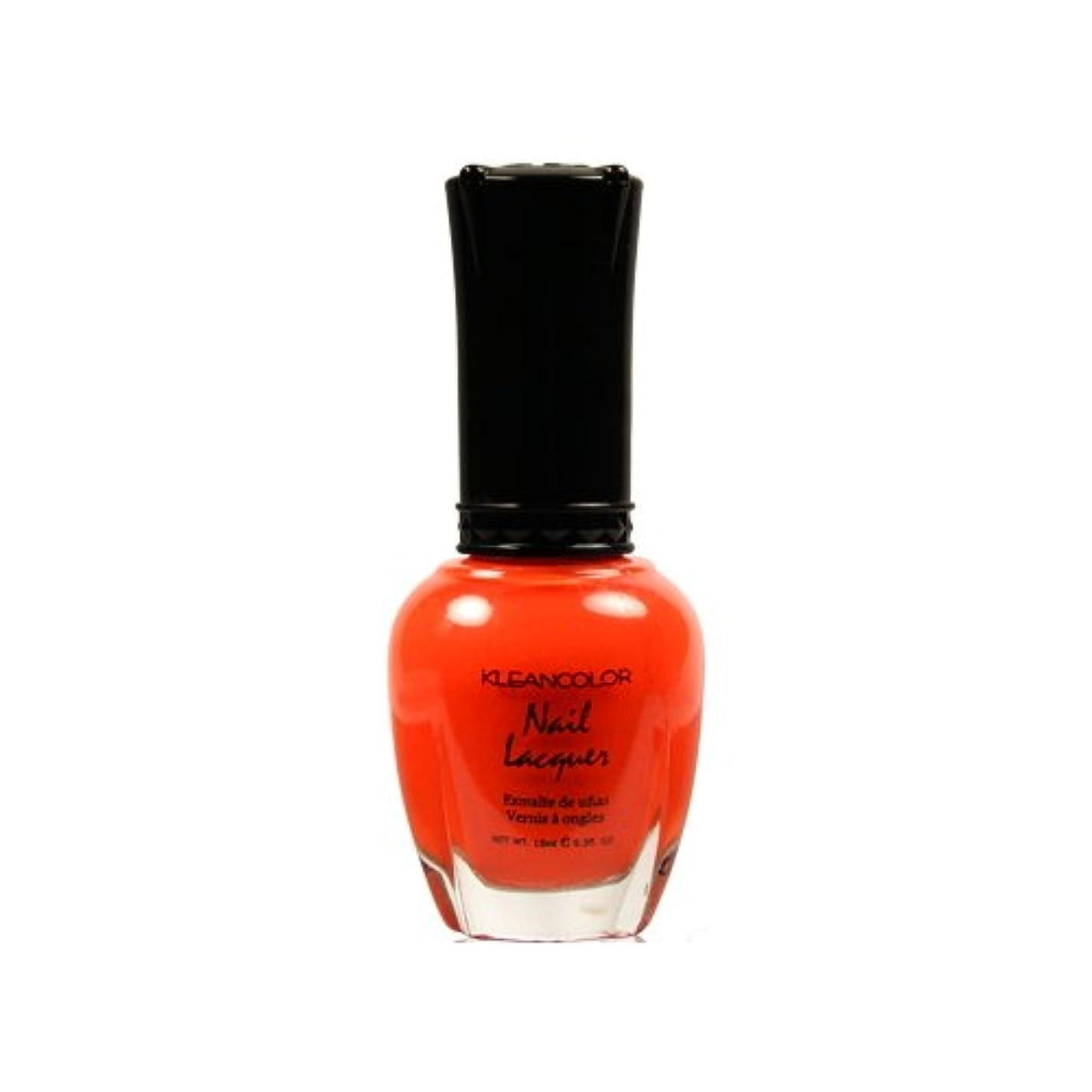 私たちのもの繁栄試す(6 Pack) KLEANCOLOR Nail Lacquer 4 - Tangerine Burst (並行輸入品)