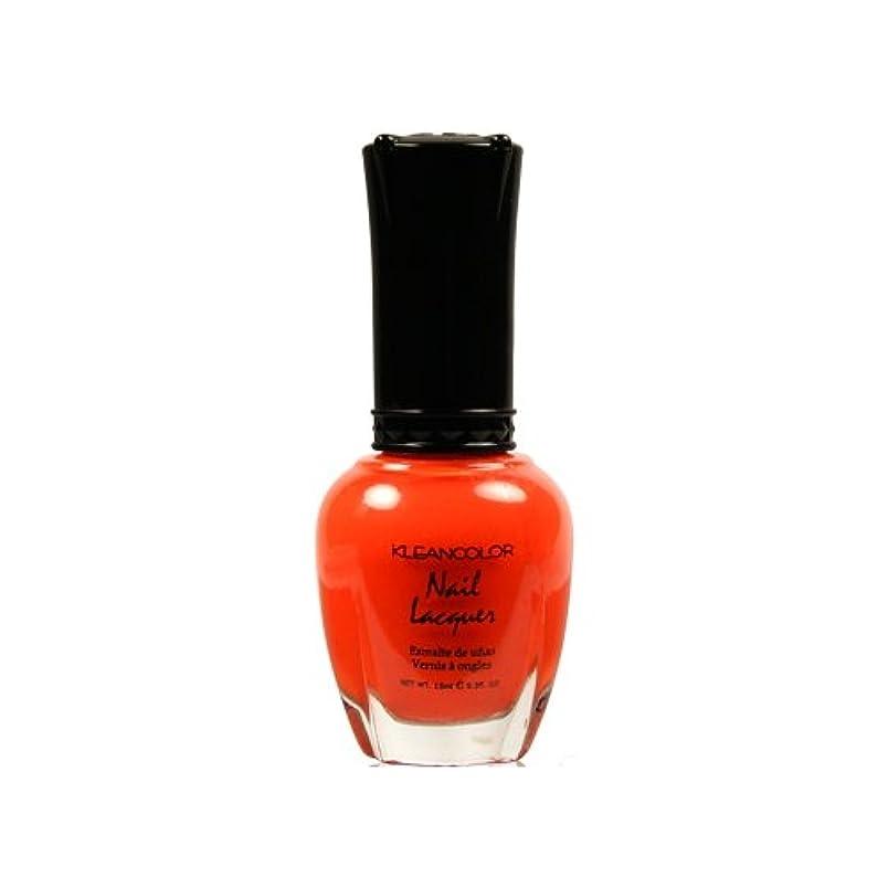 払い戻し病気悪用(6 Pack) KLEANCOLOR Nail Lacquer 4 - Tangerine Burst (並行輸入品)