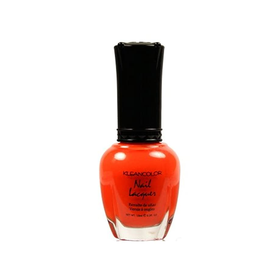 目立つ立場うめき(3 Pack) KLEANCOLOR Nail Lacquer 4 - Tangerine Burst (並行輸入品)