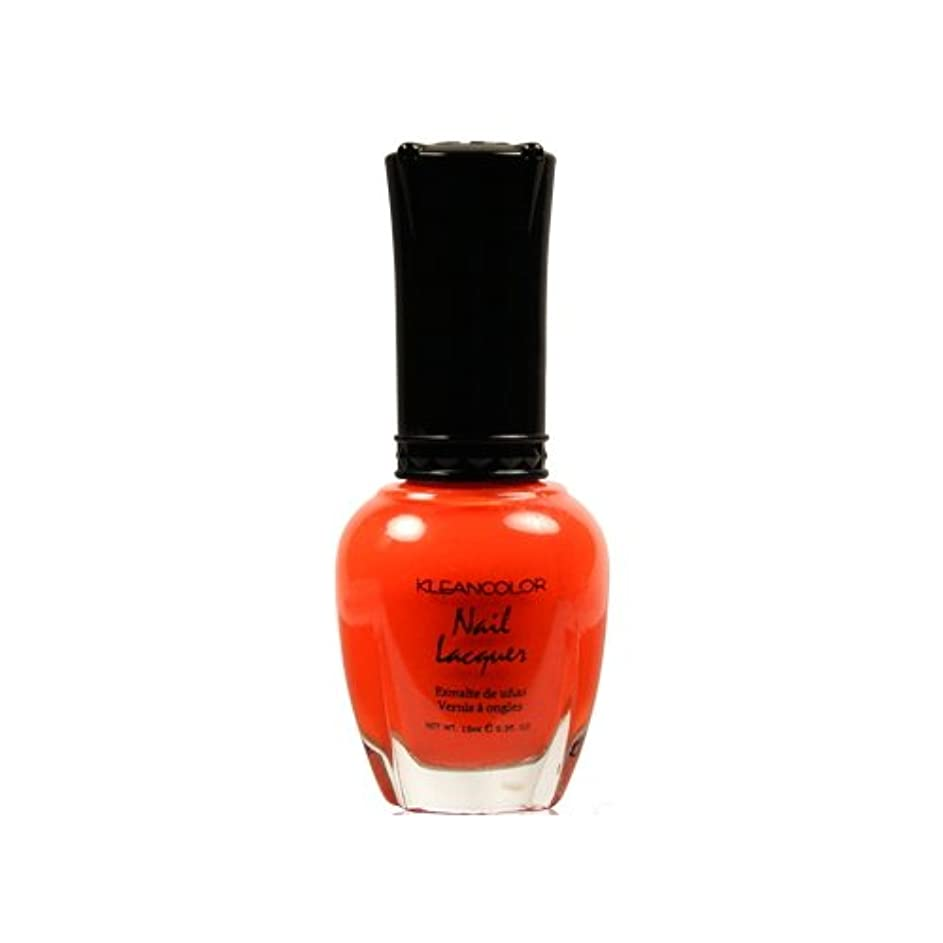 教授乳湿気の多い(3 Pack) KLEANCOLOR Nail Lacquer 4 - Tangerine Burst (並行輸入品)