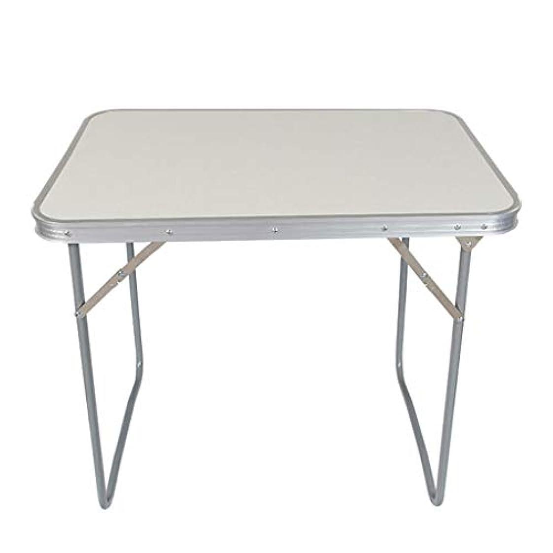 寸法苦回転NJ 折りたたみ式テーブル- 屋外光折り畳み式コンピュータデスク、ホームドミトリー長方形ダイニングテーブル (色 : 白, サイズ さいず : 70x60x50.5cm)