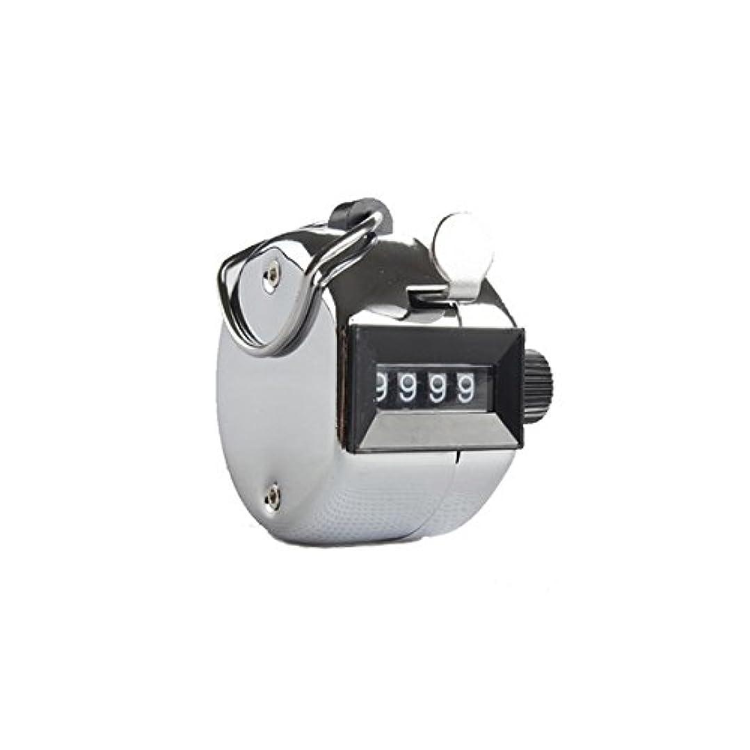 エスカレータースクリューカニエクステカウンター(シルバー)手持ちホルダー付き 数取器 まつげエクステ用品