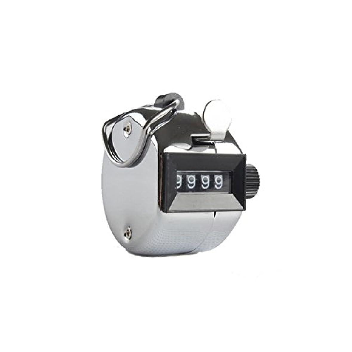 急速な印象的動かすエクステカウンター(シルバー)手持ちホルダー付き 数取器 まつげエクステ用品