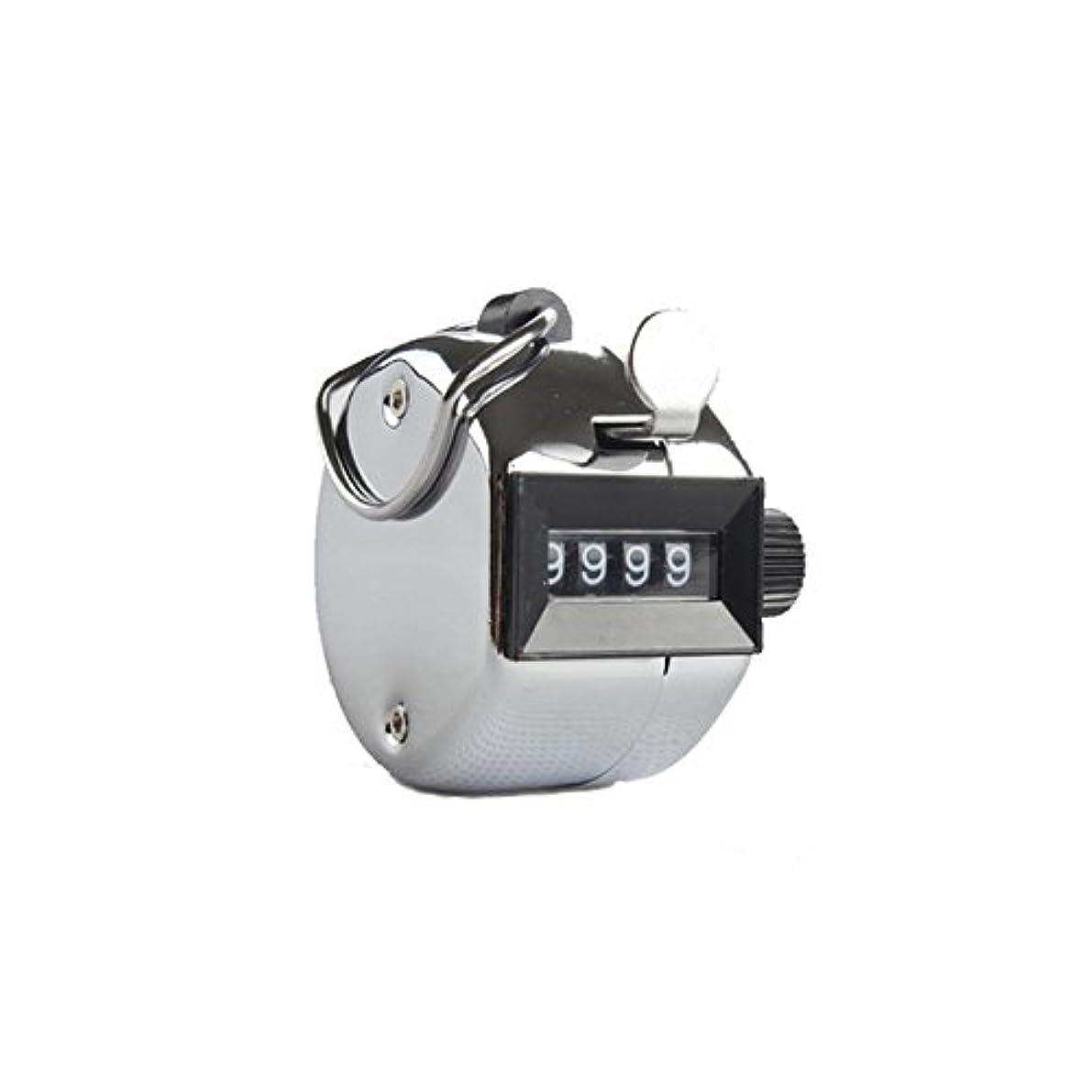 降臨スパイラル脊椎エクステカウンター(シルバー)手持ちホルダー付き 数取器 まつげエクステ用品