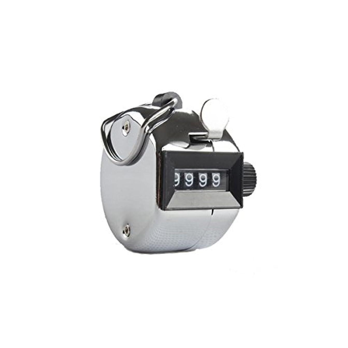 聴覚障害者血銃エクステカウンター(シルバー)手持ちホルダー付き 数取器 まつげエクステ用品