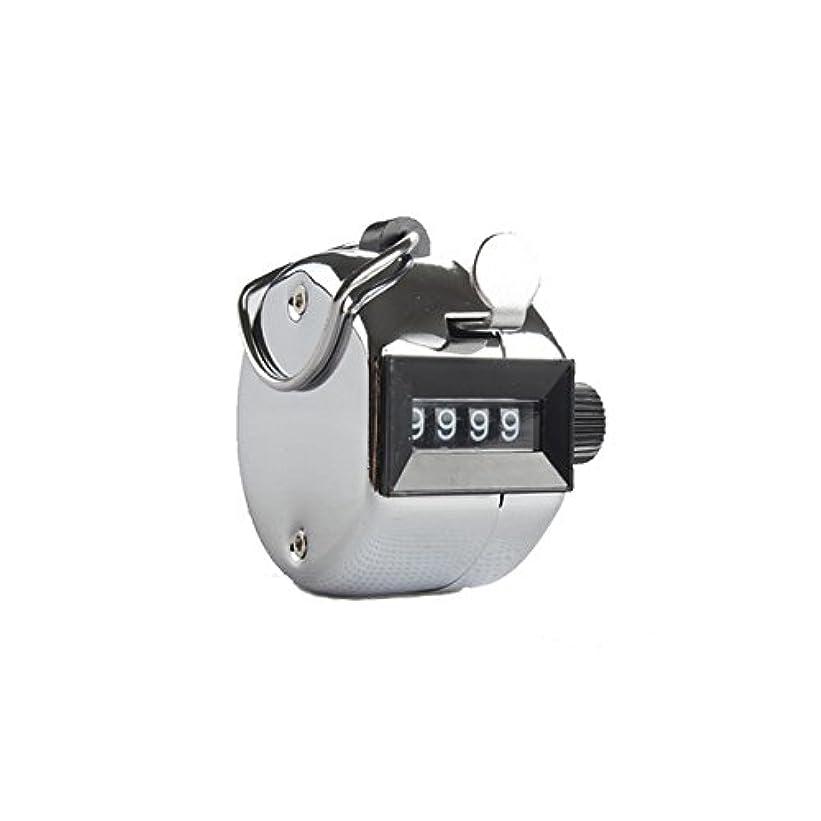 伝統蒸気とてもエクステカウンター(シルバー)手持ちホルダー付き 数取器 まつげエクステ用品