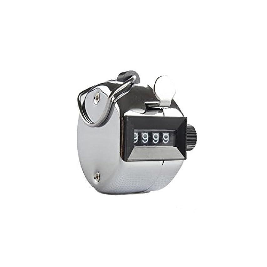 用心する非効率的な熟したエクステカウンター(シルバー)手持ちホルダー付き 数取器 まつげエクステ用品