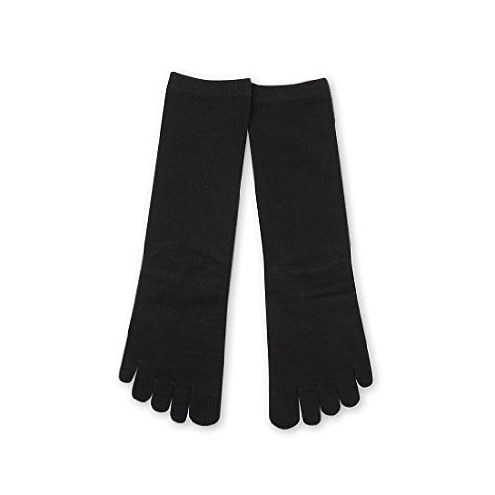 厚くするリーフレット作動するDeol(デオル) 5本指 ソックス 女性用 靴下 23~25cm 黒