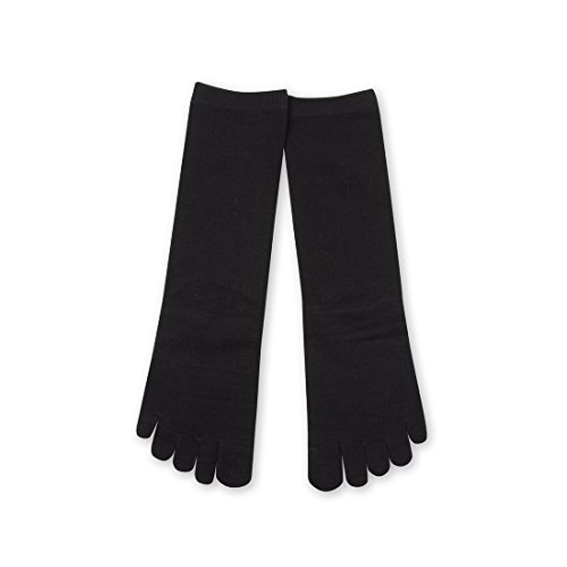 砲撃有害読み書きのできないDeol(デオル) 5本指 ソックス 女性用 靴下 23~25cm 黒