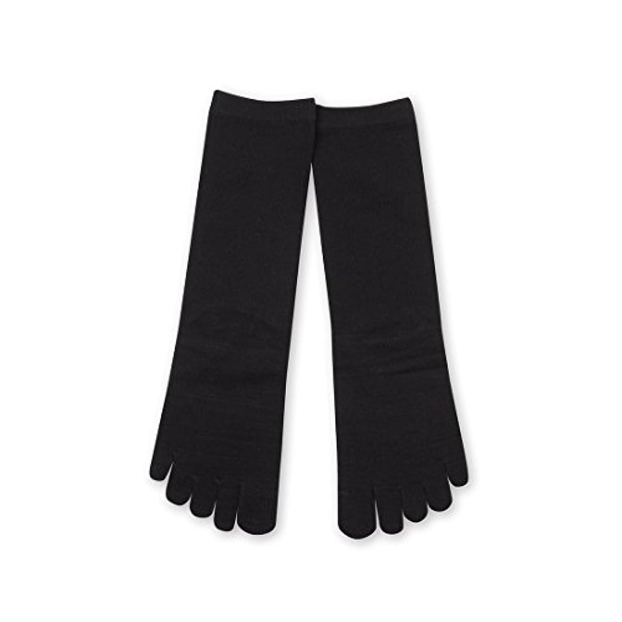 意気込み行寸法Deol(デオル) 5本指 ソックス 女性用 靴下 23~25cm 黒