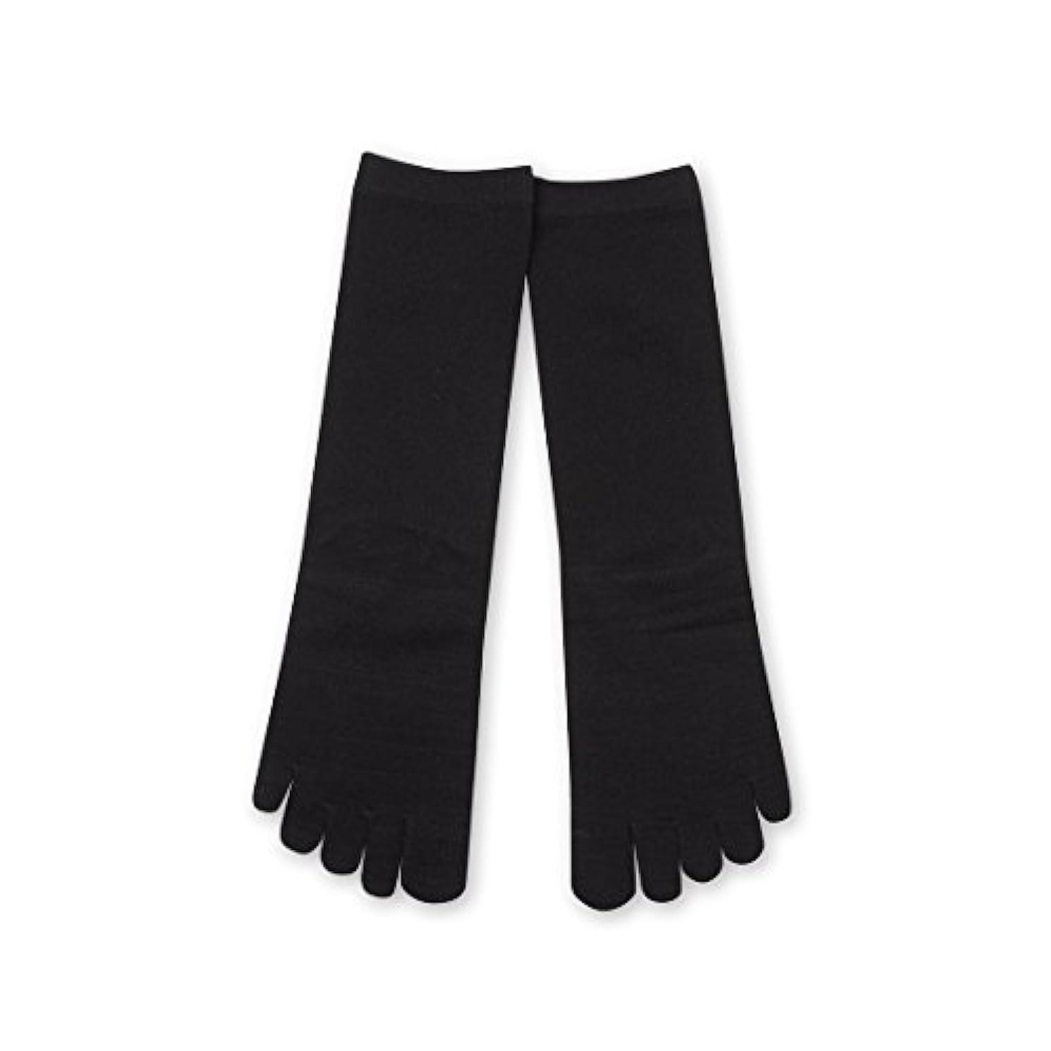 ブルームブリードメアリアンジョーンズDeol(デオル) 5本指 ソックス 女性用 靴下 23~25cm 黒