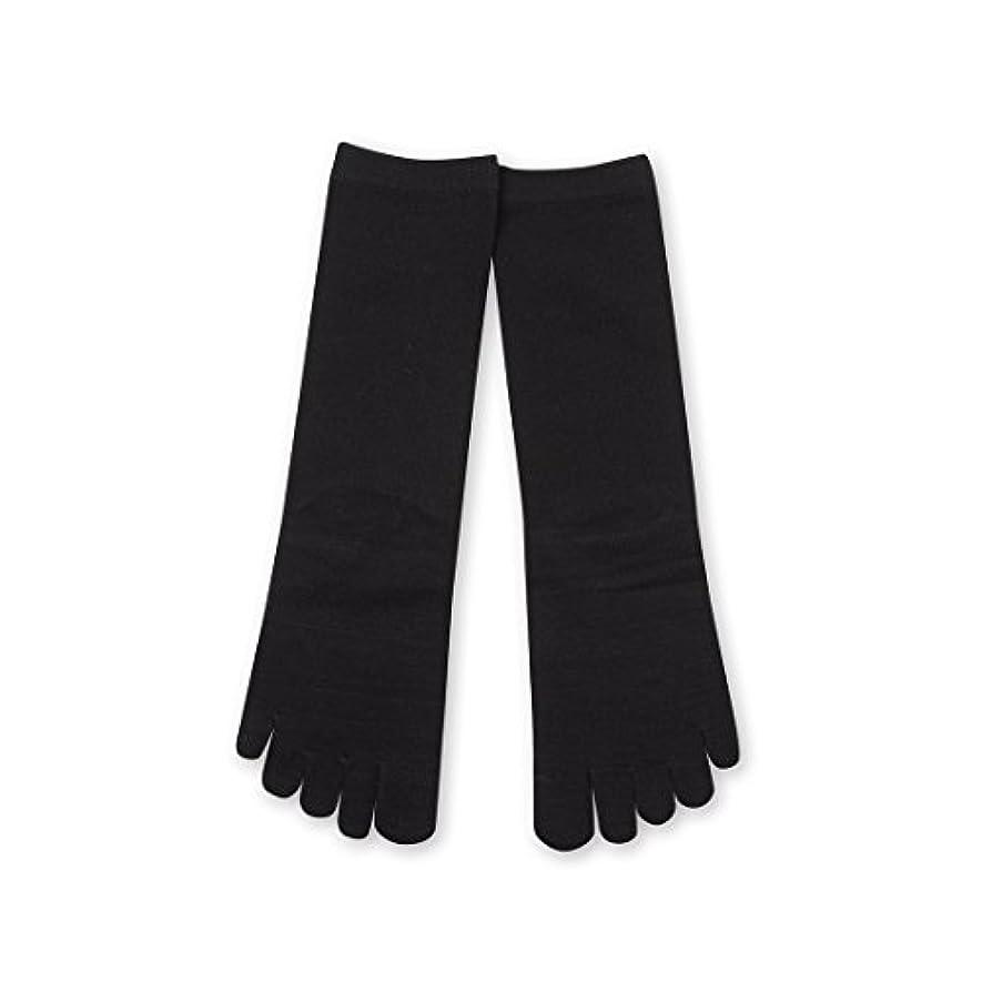 願う束読書をするDeol(デオル) 5本指 ソックス 女性用 靴下 23~25cm 黒