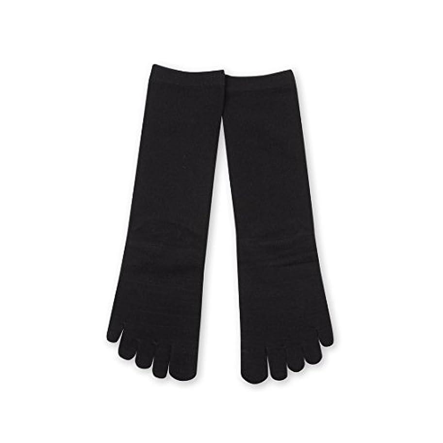 スープシロナガスクジラコストDeol(デオル) 5本指 ソックス 女性用 靴下 23~25cm 黒
