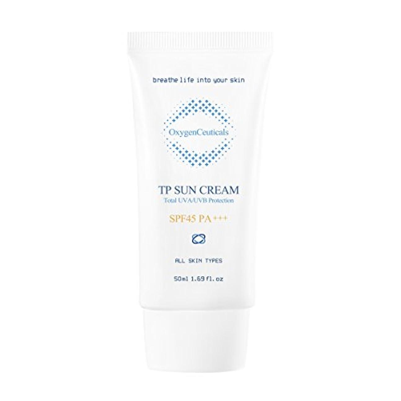 ボット形式ペンフレンドオキシジェンシューティカルズ 酸素サンクリーム(保湿日焼け止め) 50ml. TP Sun Cream 50ml. [SPF45 PA+++] X Mask Pack 1p.