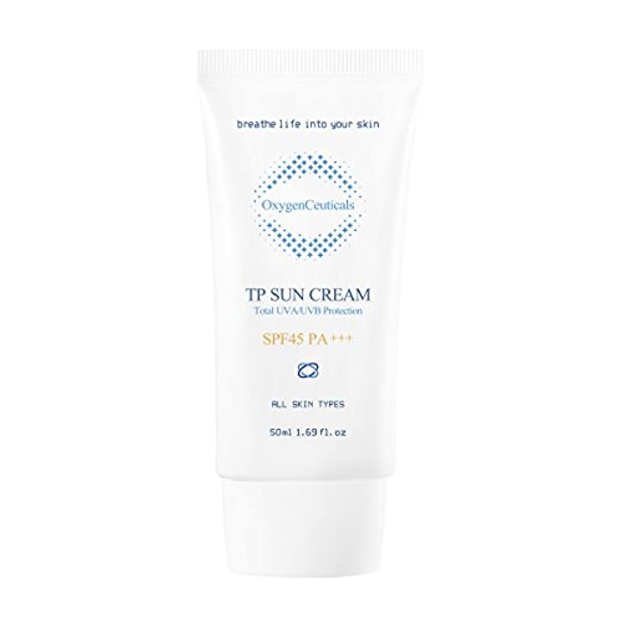 生じる国家戸棚オキシジェンシューティカルズ 酸素サンクリーム(保湿日焼け止め) 50ml. TP Sun Cream 50ml. [SPF45 PA+++] X Mask Pack 1p.