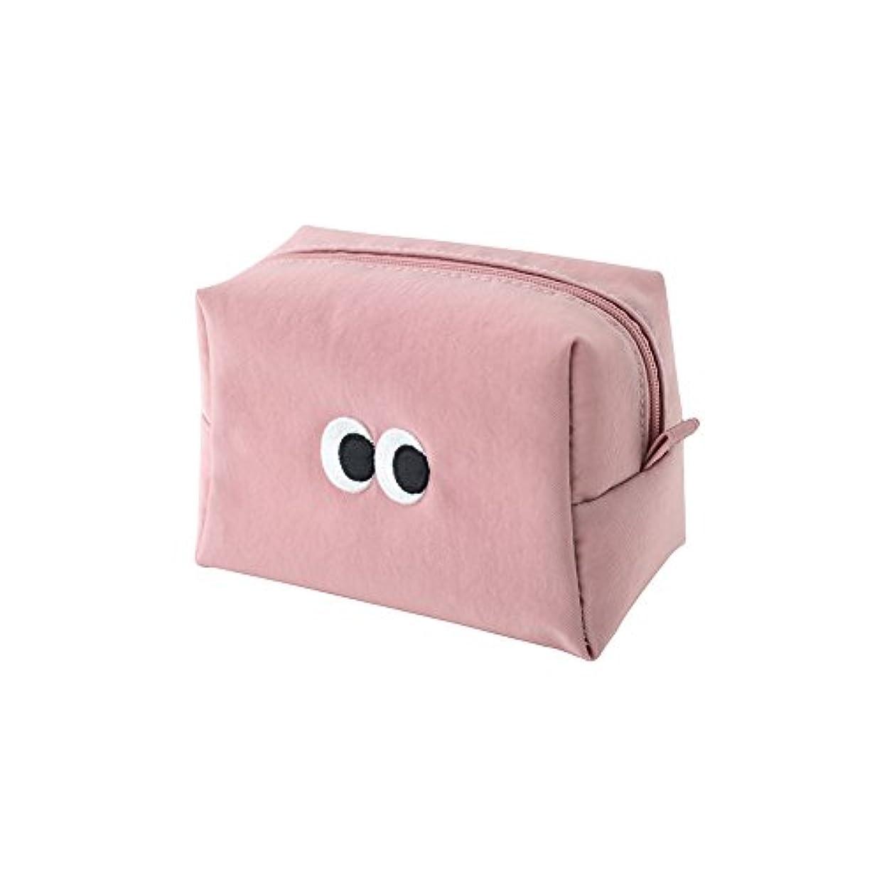 服を洗うレンズ飲食店[LIVEWORK] SOM SOM Stitch Makeup Pouch ソムソムスティッチメイクアップポーチ 小物入れ コスメポーチ 便利 シンプル かわいい