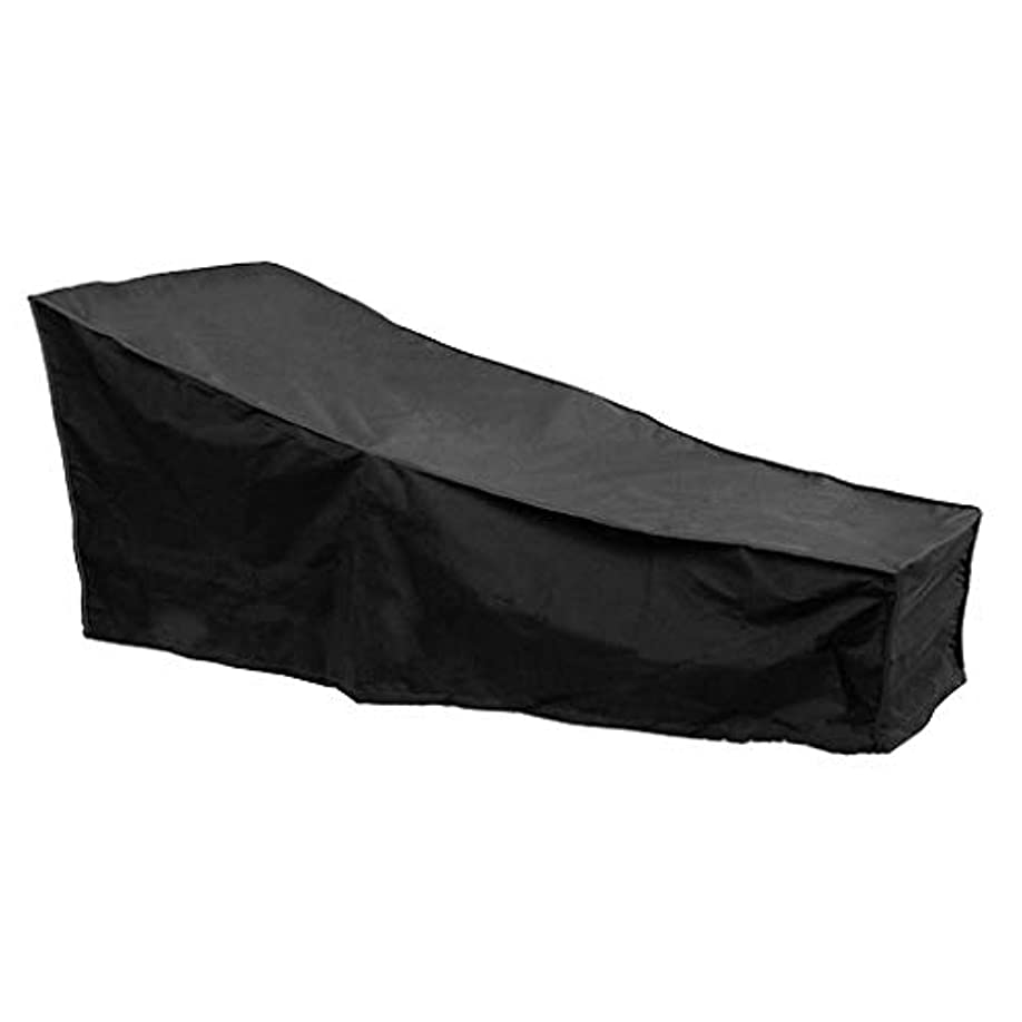 傑出した一次粒Jcy 屋外テラスリクライニングチェアカバー、防水キャノピーガーデンバルコニーサンシートカバー、芝生椅子カバー (色 : Black, Size : 198x90x84cm)