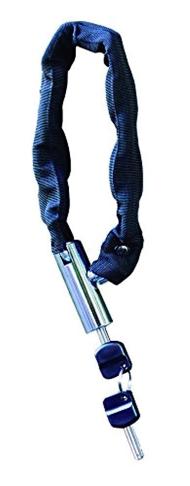シチリア上流の汚染されたkuhaku(クウハク) 自転車 盗難防止 カギ 黒檀 頑丈チェーンロック シンプルキー 7MMX40CM ブラック 030348