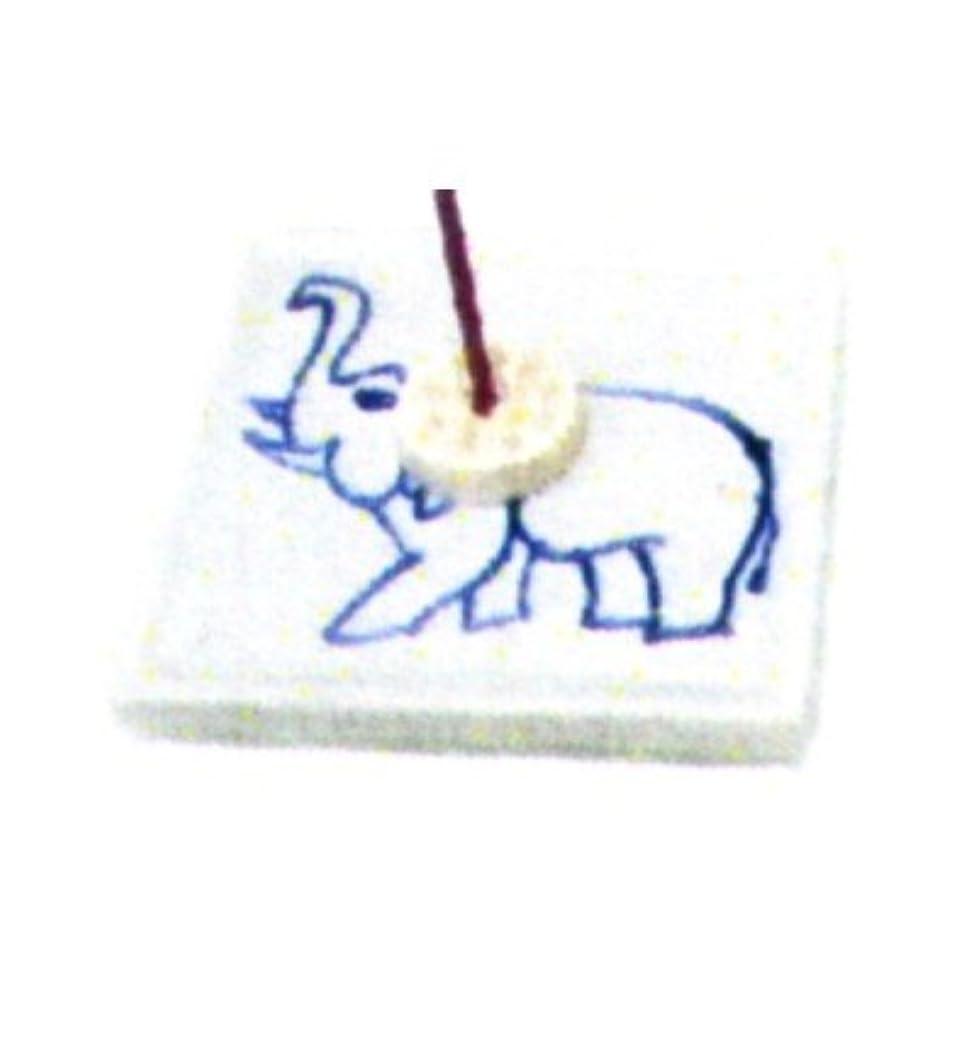 透ける毒斧セラミック香皿 角 ゾウ