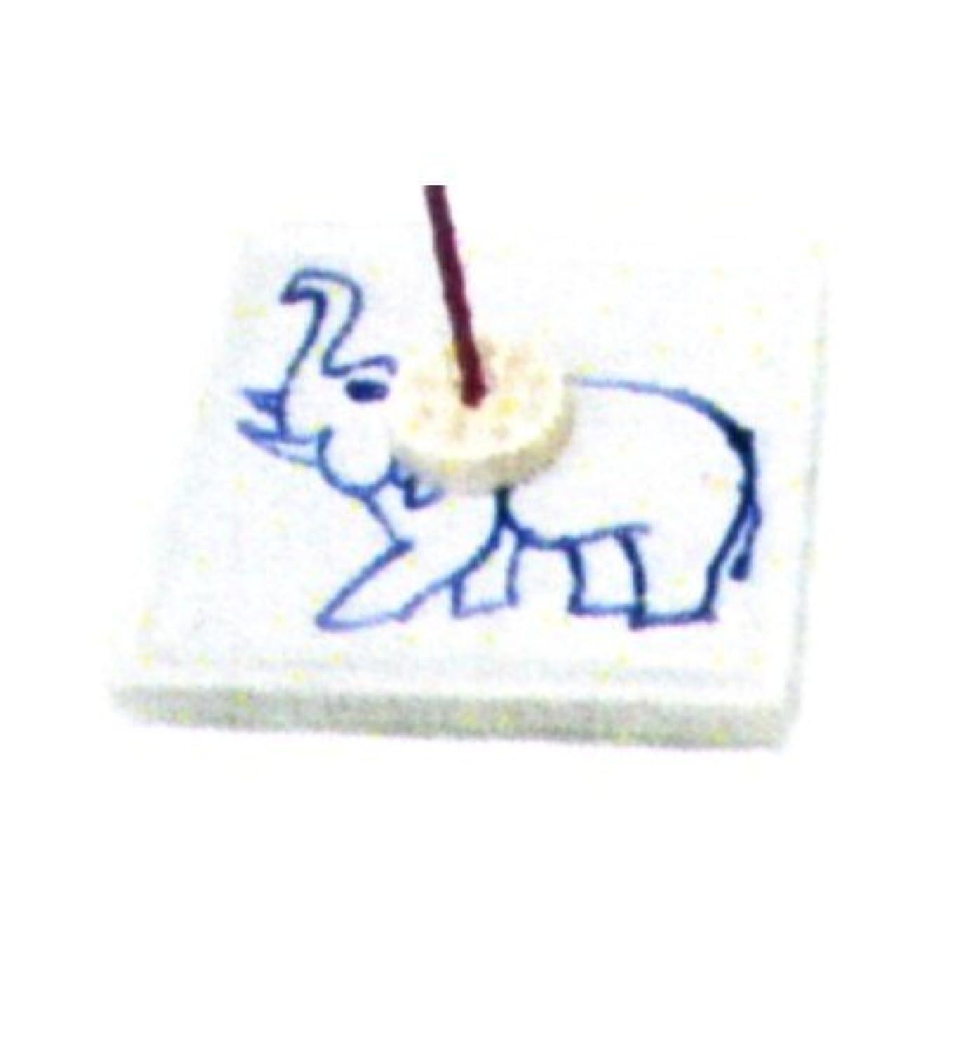 素朴な条約ひねくれたセラミック香皿 角 ゾウ