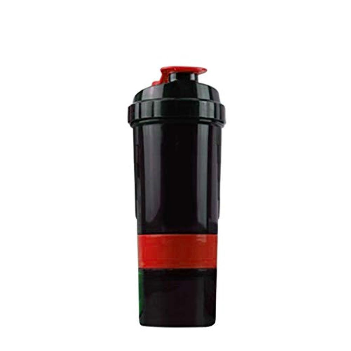 楽しむタオル定義【LORIA?JP品】 Pro プロテインシェイカー 500ml 多機能 シェーカーボトル レッド