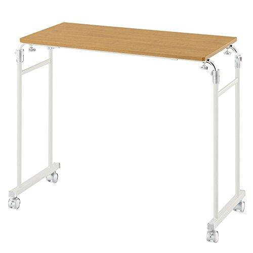 木製ナチュラルカラーロングサイドテーブル