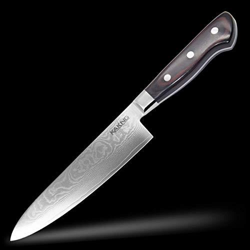 包丁 ダマスカス 三徳包丁 67層ステンレス キッチンナイフ 180mm 鋭い切れ味 食洗機対応 KAKNG