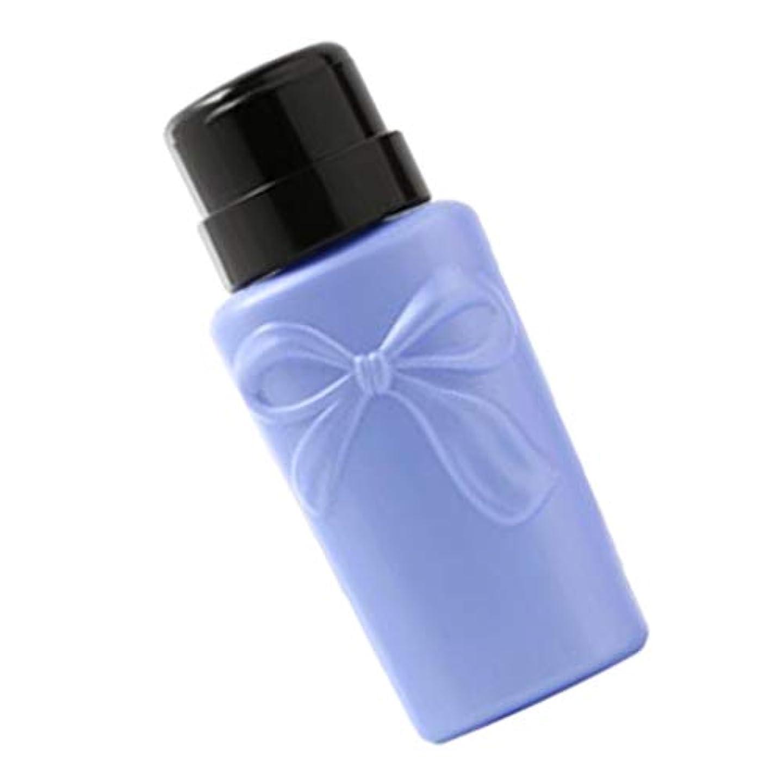 シソーラス常識突破口gazechimp 全2色 プラスチック製 ネイルアートディスペンサーボトル 空のプレスボトル - ブルー