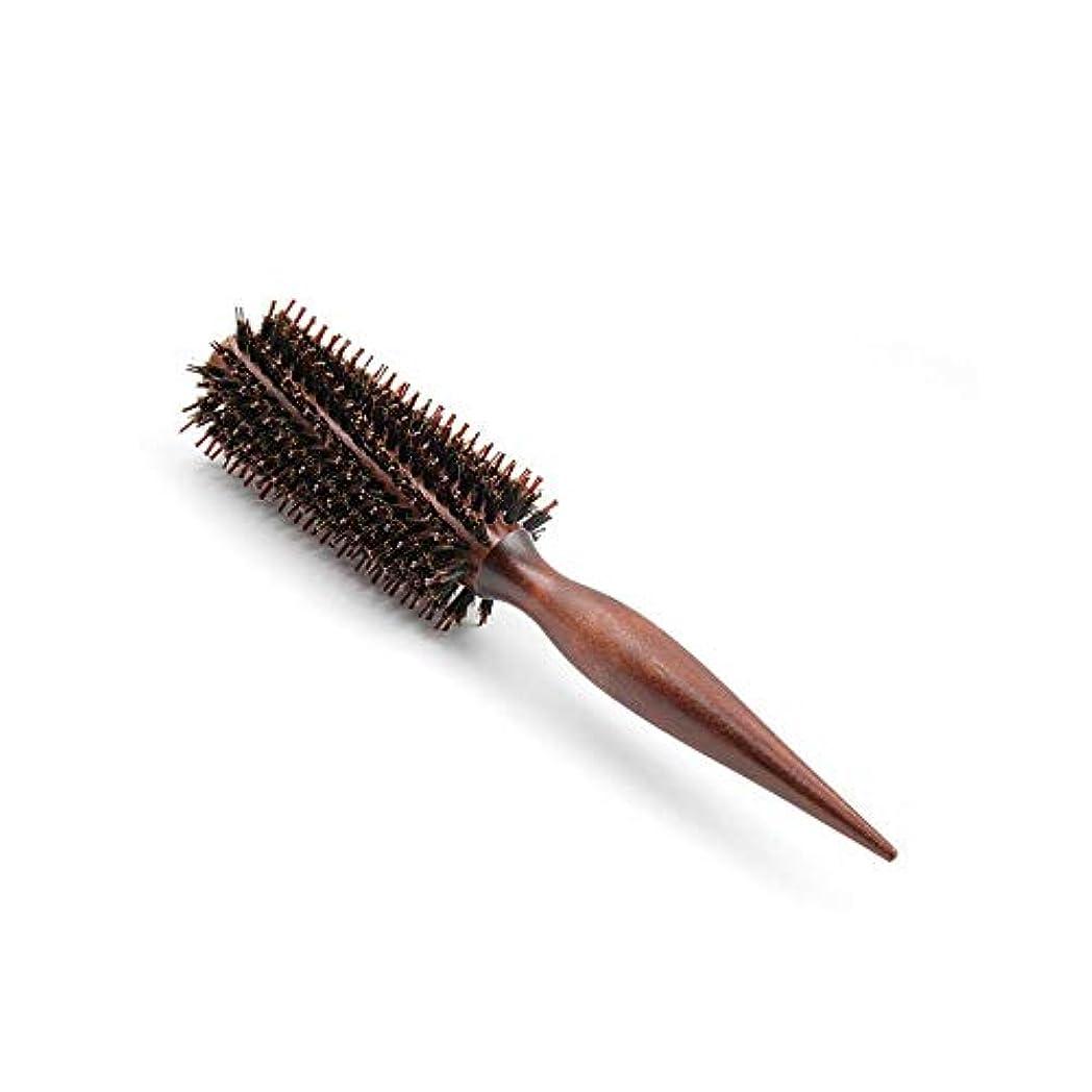小包トリッキーハーフFashian髪の毛ラウンドブラシはサロンのヘアデザインのためのドライ木製ローリングくしフェラ ヘアケア (Design : Twill, サイズ : 12 rows)