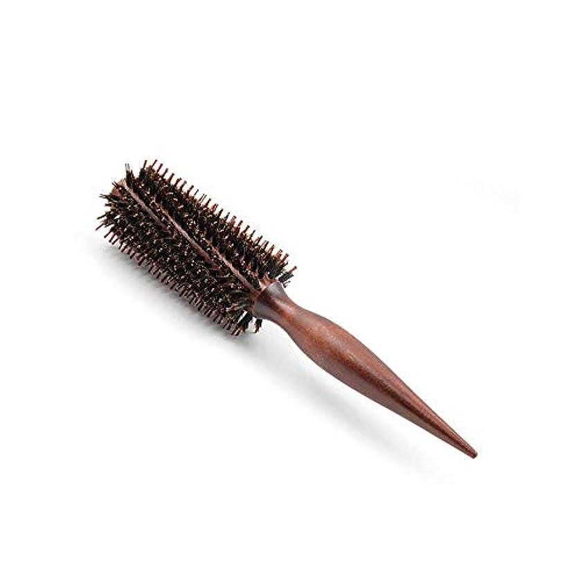 陰気素晴らしき否認するWASAIO 大広間の設計のための毛のブラシの剛毛の円形のブラシの打撃の乾燥した木の圧延の櫛 (Design : Twill, サイズ : 10 rows)