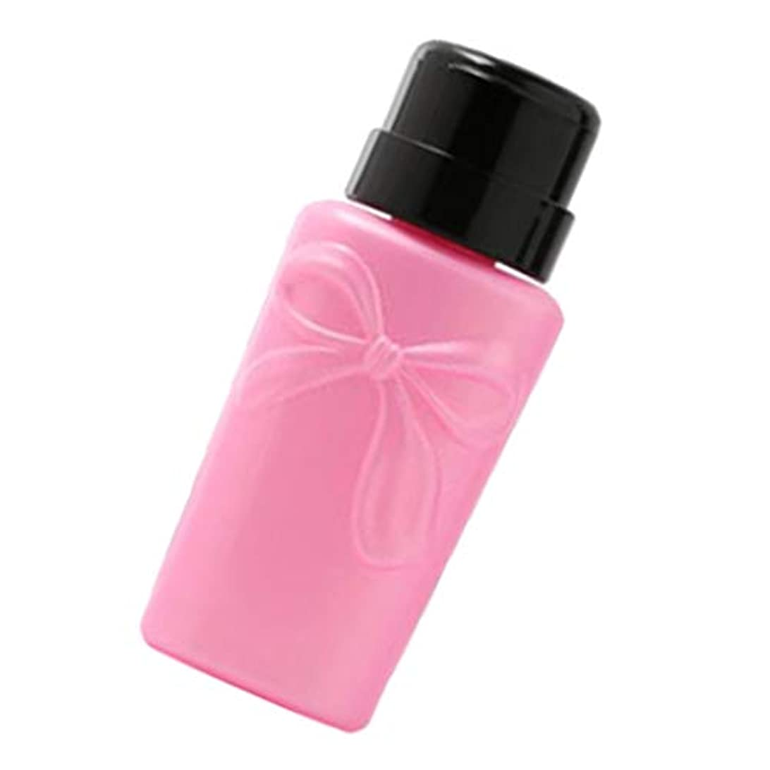 プレビューソファーダブルCUTICATE ポンプボトル ディスペンサーボトル ネイルポリッシュリムーバーボトル 空のプレスボトル 2色 - ピンク