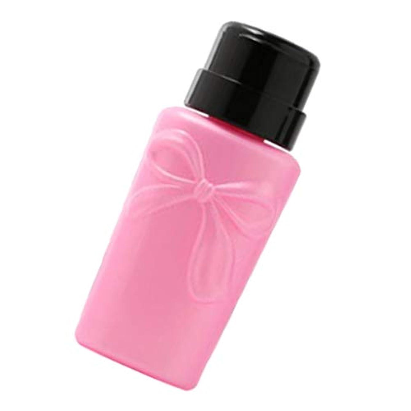 ばか火薬多用途CUTICATE ポンプボトル ディスペンサーボトル ネイルポリッシュリムーバーボトル 空のプレスボトル 2色 - ピンク