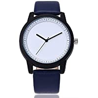 Women's Wrist Watch Quartz Large Dial Genuine Leather Band Analog Casual Fashion Black/Blue/Brown - Brown Green Blue One Year Battery Life