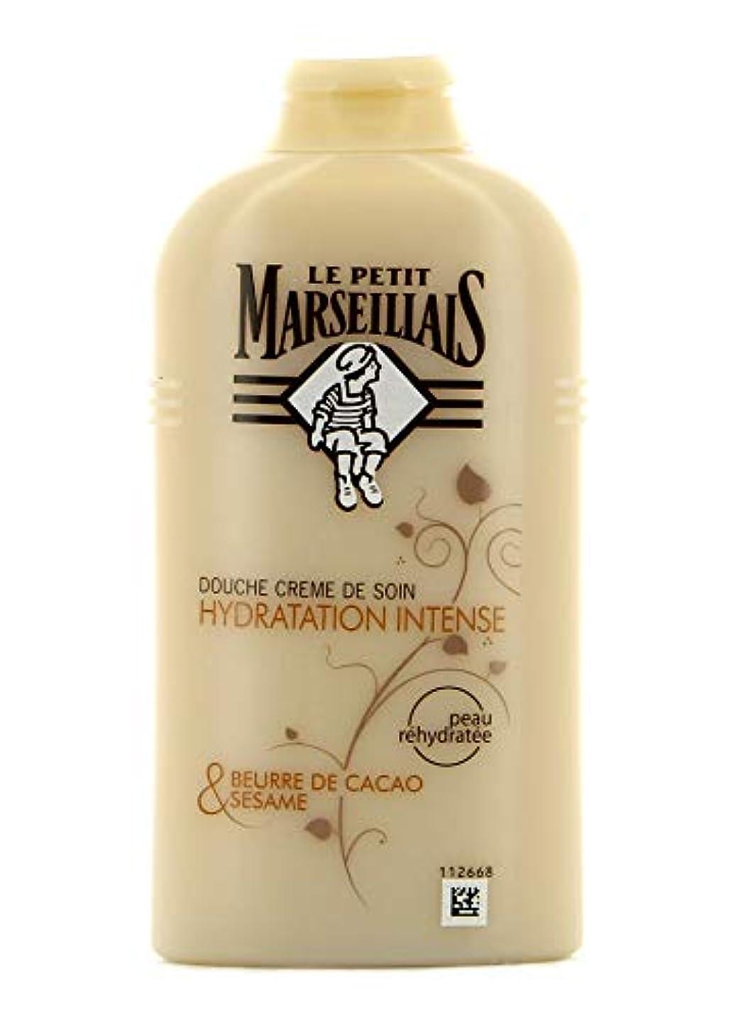 旋律的デモンストレーション委任する「ココアバター」と「ゴマ」シャワークリーム ???? フランスの「ル?プティ?マルセイユ(Le Petit Marseillais)」 250 ml ボディソープ