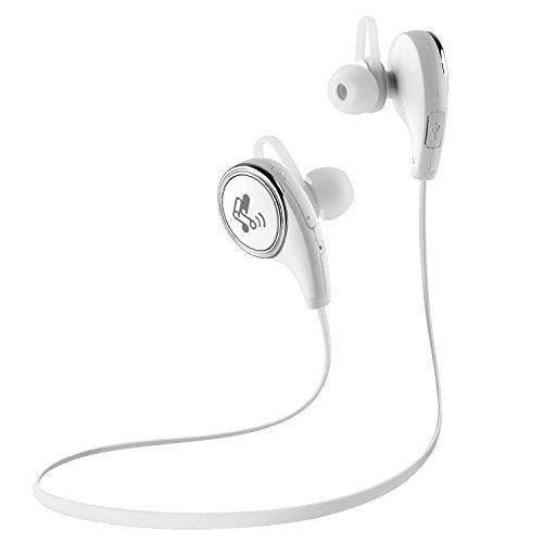〔白黒2色〕SoundPEATS サウンドピーツ QY8 Bluetooth イヤホン 高音質 コンパクト 超軽量 apt-X / AAC(iPhone,iPad,iPod)両高音質コーデック対応 低遅延 Bluetooth 4.1 + CSR社チップ採用 IPX4防水 IP4X防塵 マイク付き ハンズフリー通話 CVC6.0ノイズキャンセリング 音漏れ防止機能 ブルートゥース イヤホン ワイヤレス イヤホン Bluetooth ヘッドホン[メーカー直販 / 1年間保証]ホワイト